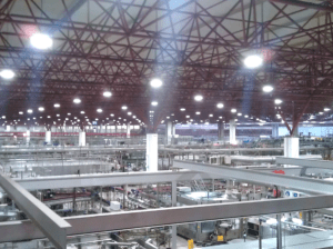 Factory interior with Airis LED lighting
