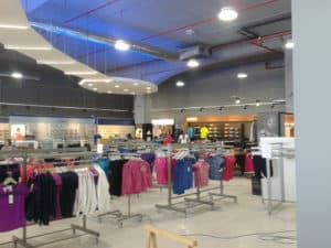 Clothes store interior with Airis LED lighting