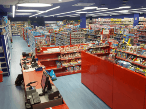 Retail store interior with Airis LED lighting