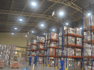 Warehouse interior with Airis LED lighting