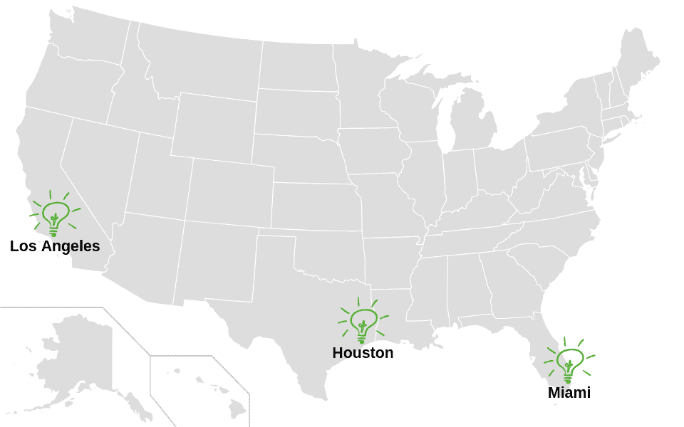 Airis Locations On US Map