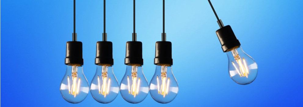 from fluorescent to LED light bulbs