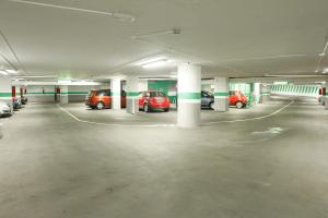Parking garage interior with Airis LED lighting