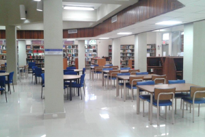 Library interior with Airis LED lighting