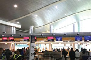 Airport lobby with Airis Smart LED lights